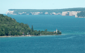 Pictured Rocks National Lakeshore - Munising Michigan located in Michigan's Upper Peninsula!  We are located in the Hiawatha National Forest in Michigan's Upper Peninsula and near or along the Pictured Rocks National Lakeshore. The majestic Pictured Rocks are comprised of over 15 miles of shoreline with stone cliffs up to 200' high.  Enjoy a number of inland lakes, Lake Superior, rivers, and over 17 waterfalls within Alger County.